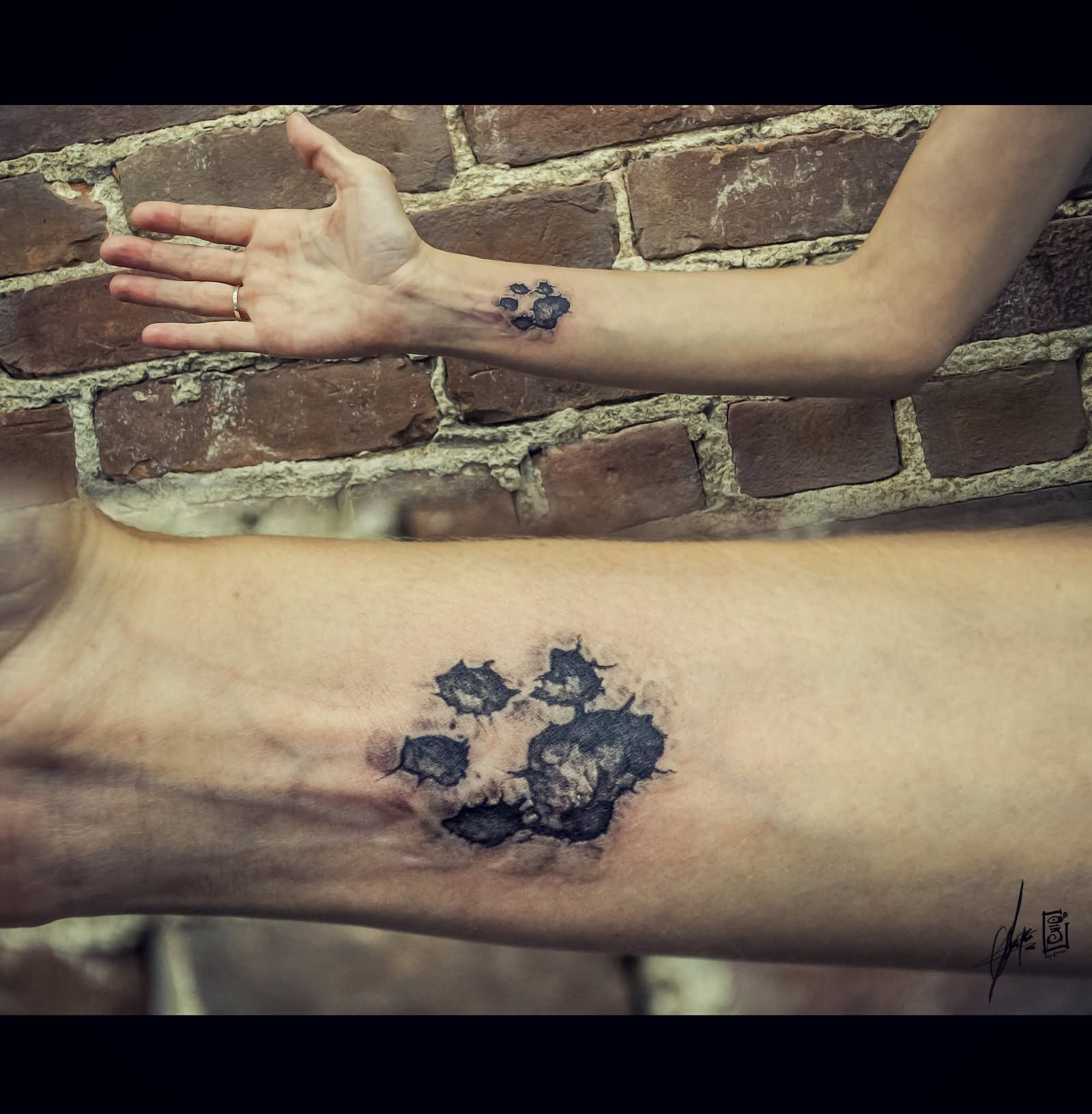 Pet Paw Print Tattoo: 5+ Dog Tattoos On Wrists