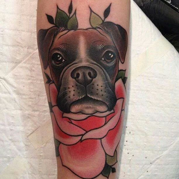 30 traditional dog tattoos