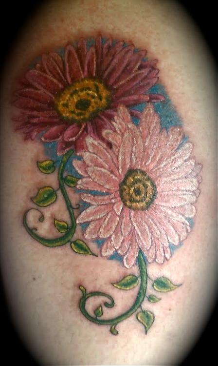 Pink Daisy Tattoo: 35+ Cute Daisy Tattoos