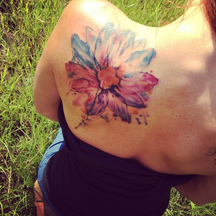 42 Watercolor Lily Tattoos Collection: 31+ Watercolor Daisy Tattoos