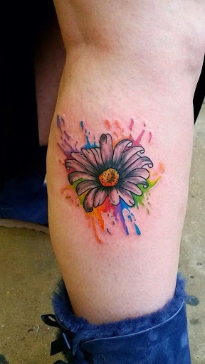 31 watercolor daisy tattoos. Black Bedroom Furniture Sets. Home Design Ideas