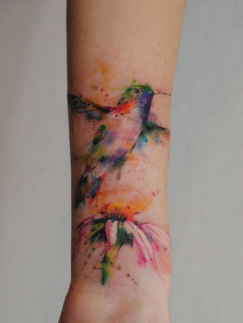 11 hummingbird watercolor tattoo. Black Bedroom Furniture Sets. Home Design Ideas