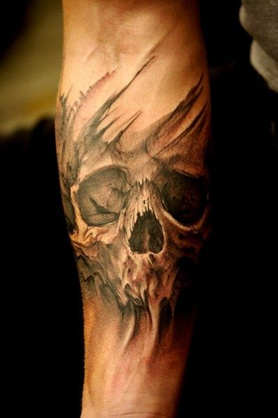 30 incredible death tattoos. Black Bedroom Furniture Sets. Home Design Ideas