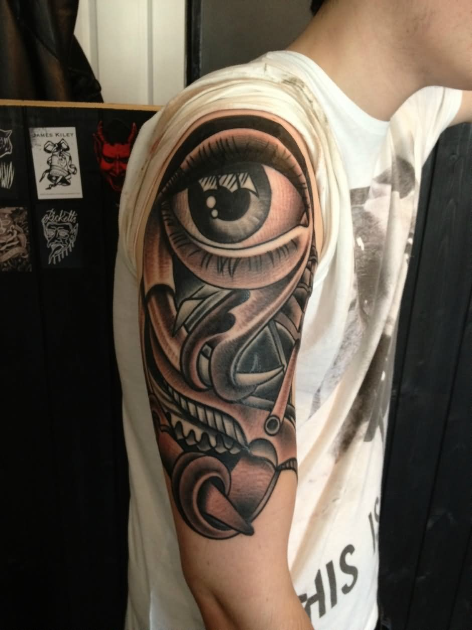 Eye For Design Bohemian Interiors And Accessories: Watercolor Mickey Mouse Head Disney Tattoo On Left Shoulder