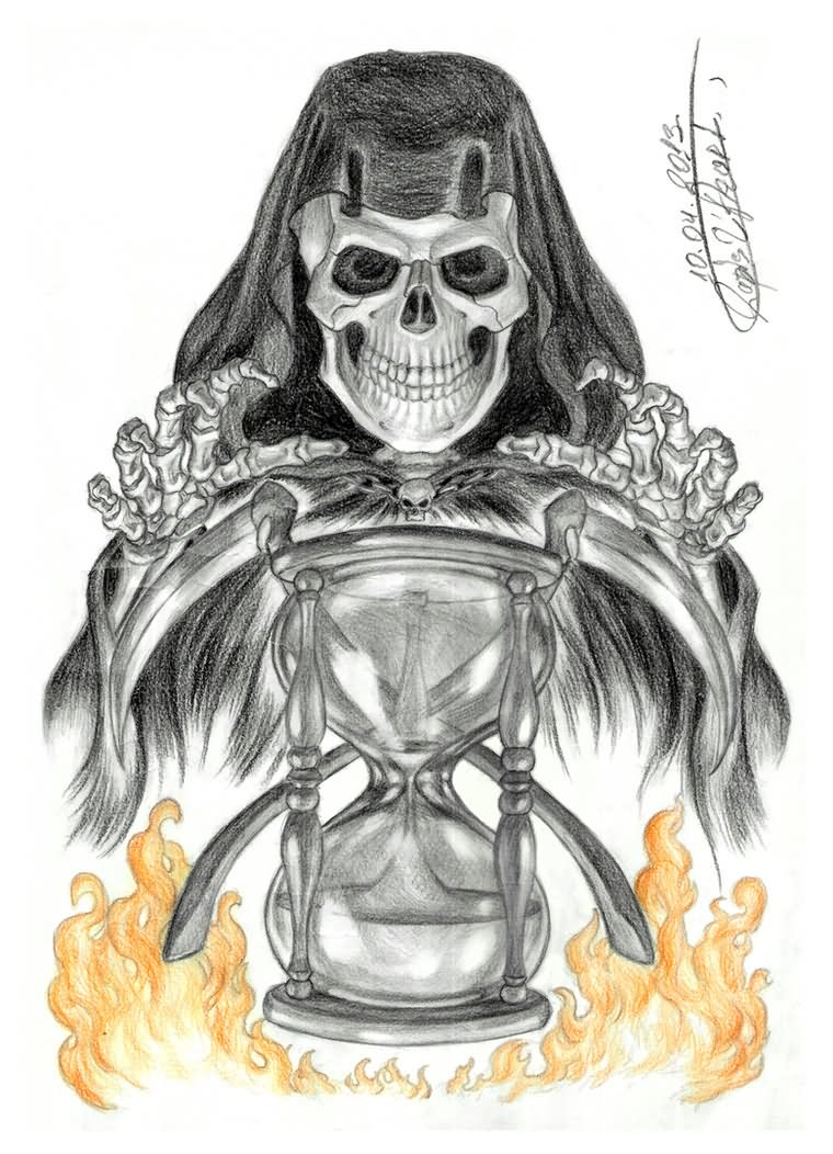 death grim reaper tattoo design by beckie1994. Black Bedroom Furniture Sets. Home Design Ideas