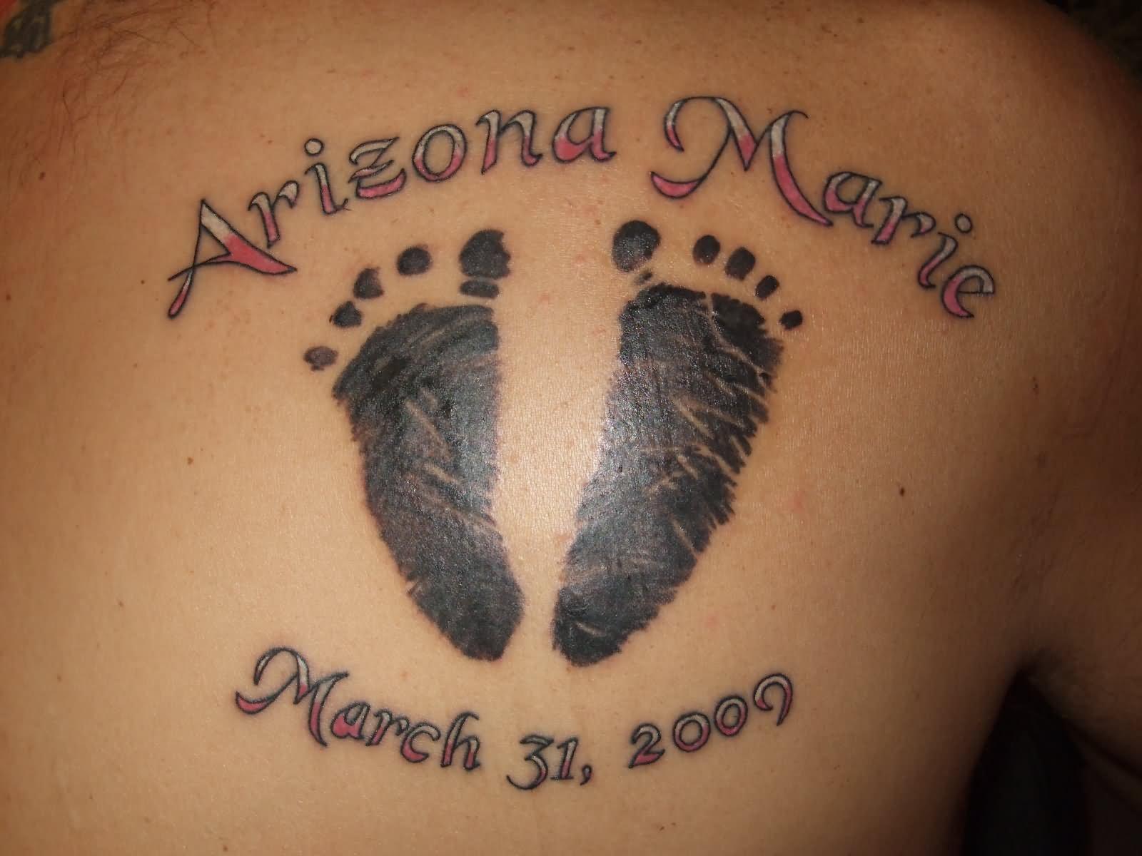 33 Inspiring Footprints Tattoos
