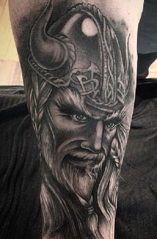 34 awesome viking tattoos. Black Bedroom Furniture Sets. Home Design Ideas