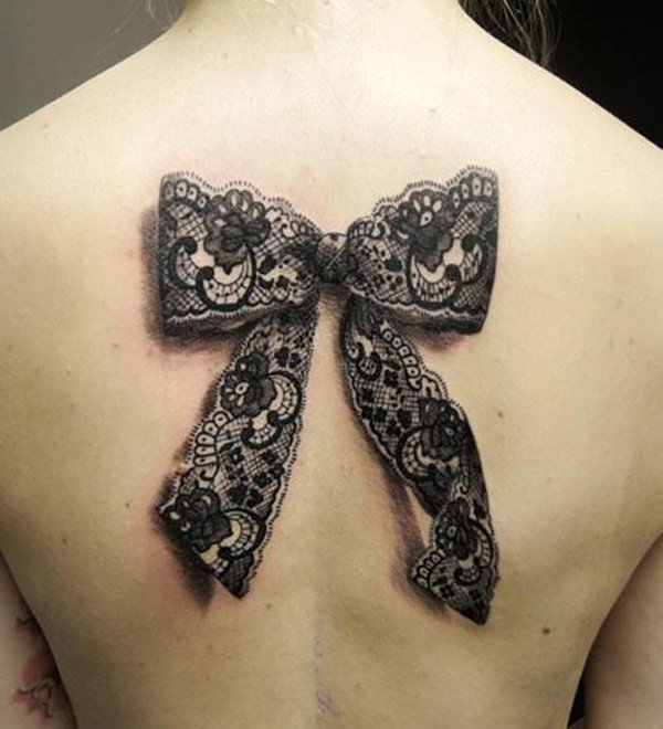 27+ Lace Ribbon Tattoos For Girls And Women