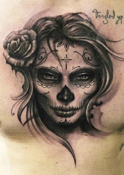 4+ Dia De Los Muertos Tattoos On Chest