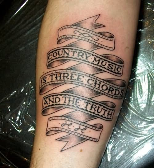 20 ribbon with words tattoos ideas for Tattoos for country girls