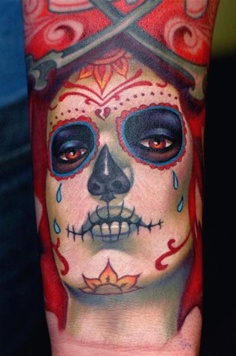 37 dia de los muertos tattoos for Dia de muertos tattoos