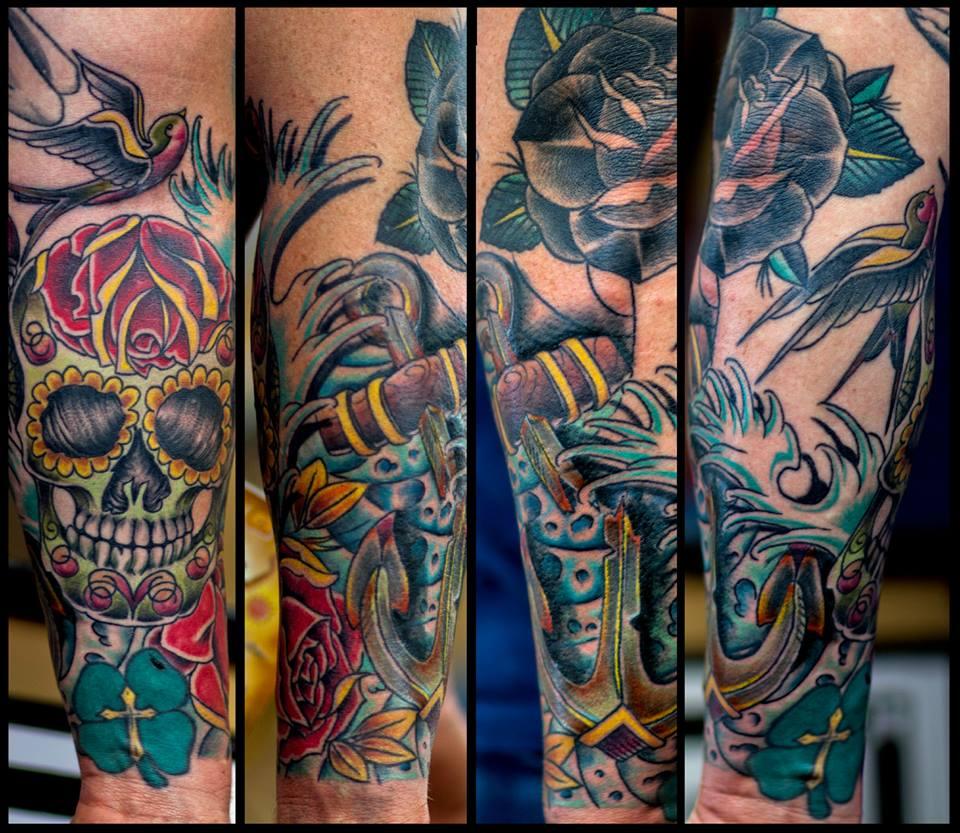 30+ Incredible Dia De Los Muertos Tattoos On Half Sleeve Dia De Los Muertos Sleeve Tattoos