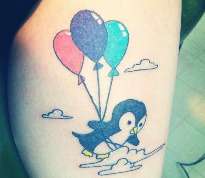 10 Penguin Tattoo Designs And Ideas: 20+ Penguin Tattoos On Leg