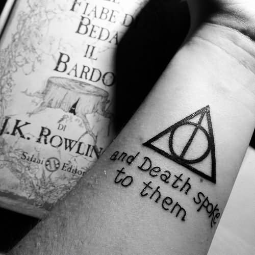 Deathly Hallow Symbol Tattoo Design For Wrist