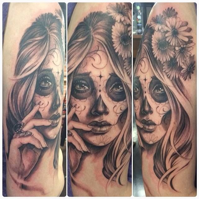 Day Of The Dead Girl Sleeve Tattoos 40412 Loadtve