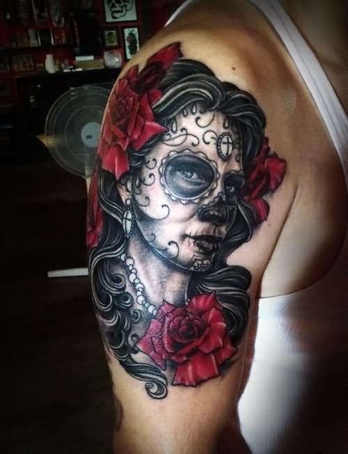 35+ Dia De Los Muertos Pinup Tattoos Dia De Los Muertos Sleeve Tattoos