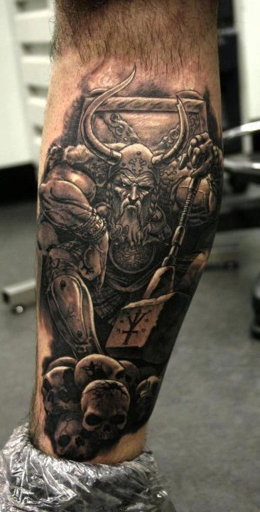 34 awesome viking tattoos for Did vikings have tattoos