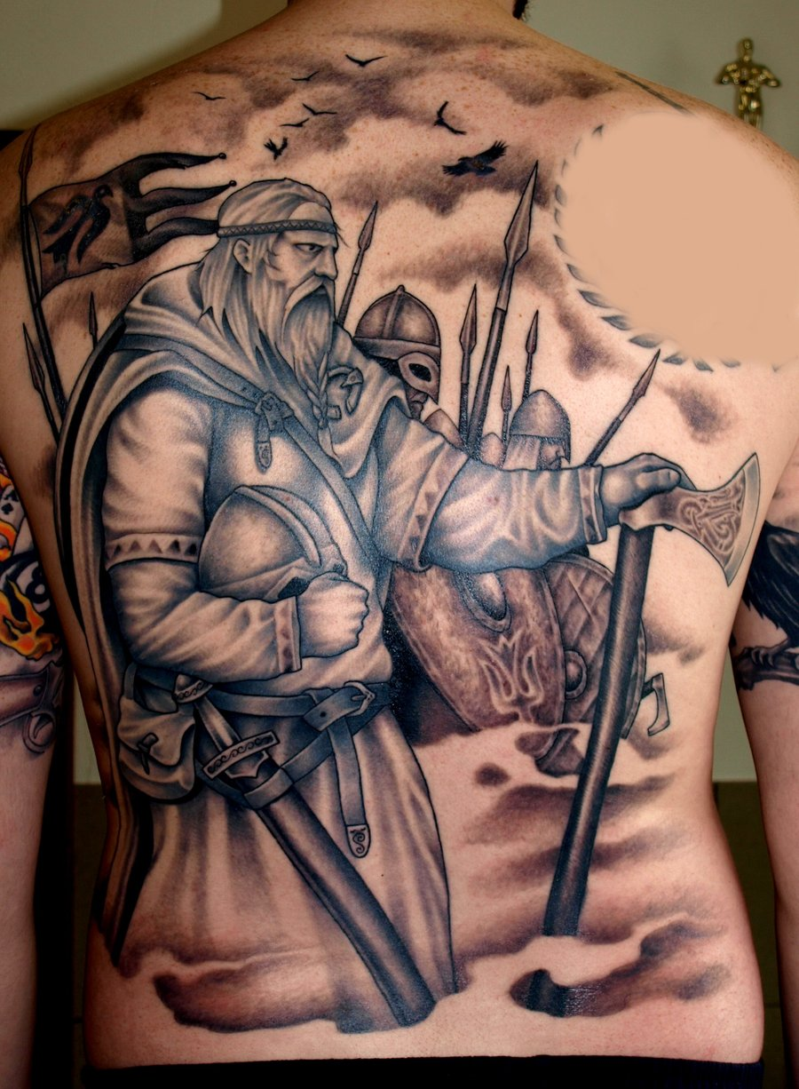 5 viking tattoos on full back for Did vikings have tattoos