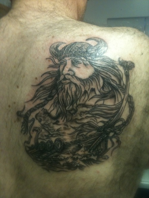 8 black and grey ink viking ship tattoos for Did vikings have tattoos