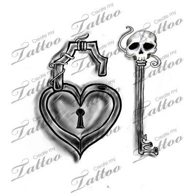7 skull key tattoo designs. Black Bedroom Furniture Sets. Home Design Ideas