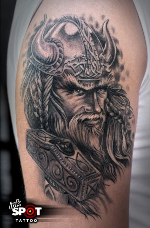 Man Right Half Sleeve Viking Tattoo By Max Inkspot