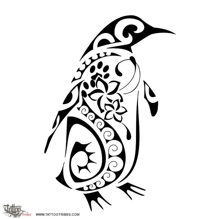 Penguin Tribal Tattoo Designs