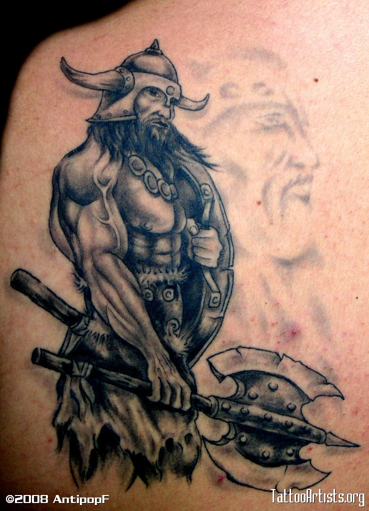 5 viking tattoos on back shoulders. Black Bedroom Furniture Sets. Home Design Ideas