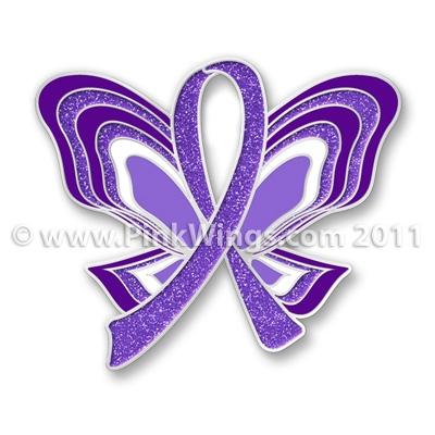 30 unique purple ribbon tattoos. Black Bedroom Furniture Sets. Home Design Ideas