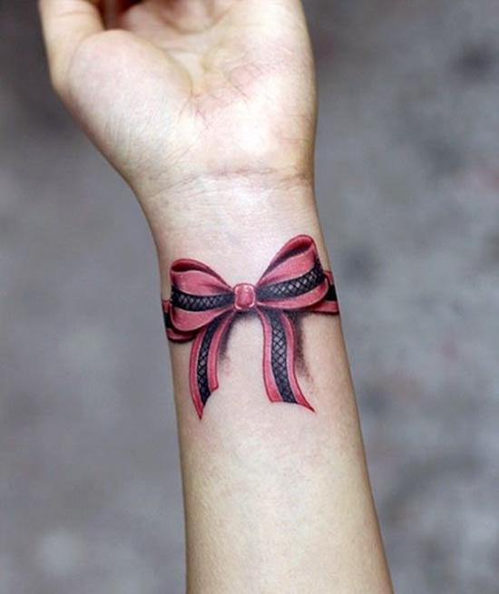 9 Nice Ribbon Tattoos On Wrists