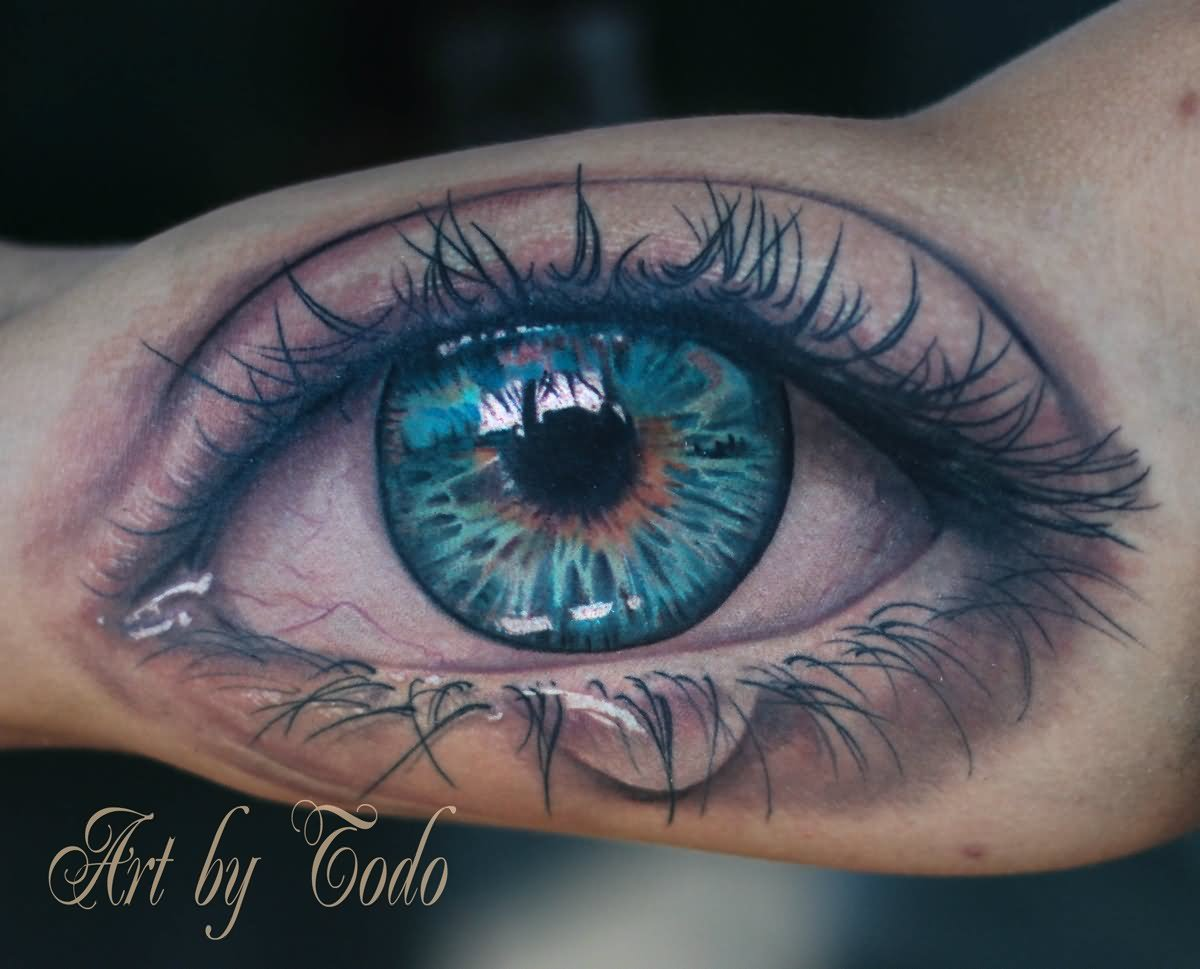 10+ Awesome Eye Tattoos On Bicep