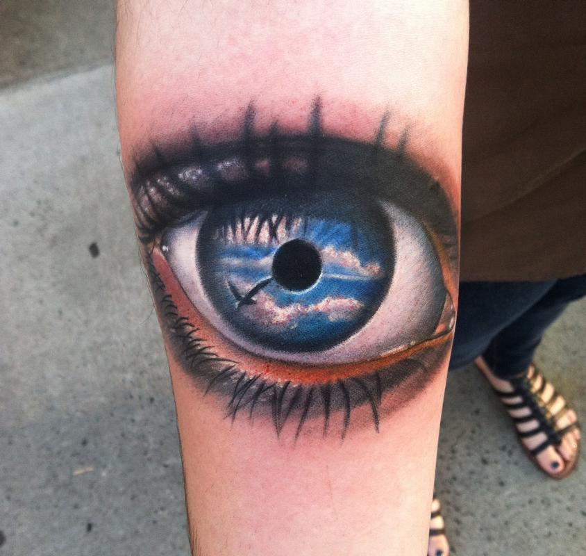 29 inspiring eye tattoos on arm for Tattoo your eyes