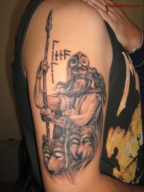 Right Half Sleeve Viking Tattoo Idea