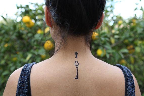 Lock Tattoo Neck