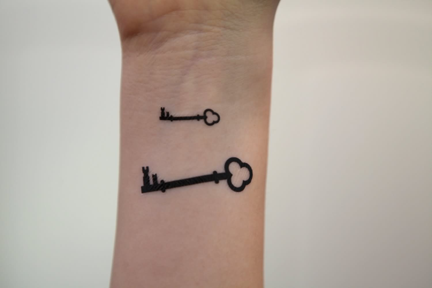 Simple Key Tattoo