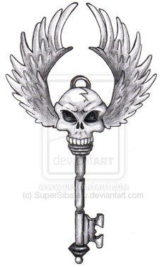 7 Skull Key Tattoo Designs