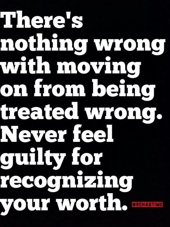 feeling guilty about moving on