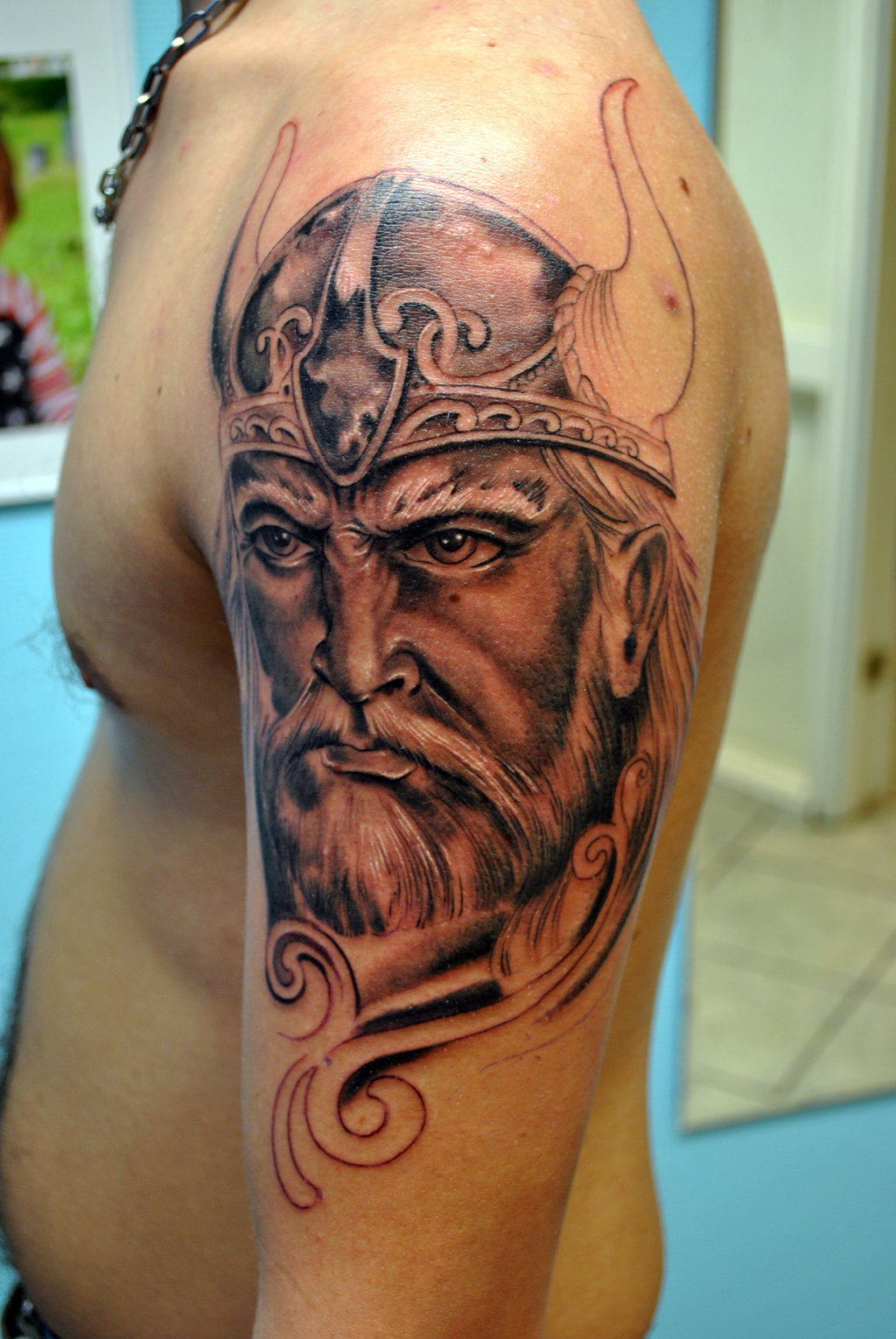 29 wonderful viking tattoos on half sleeve. Black Bedroom Furniture Sets. Home Design Ideas