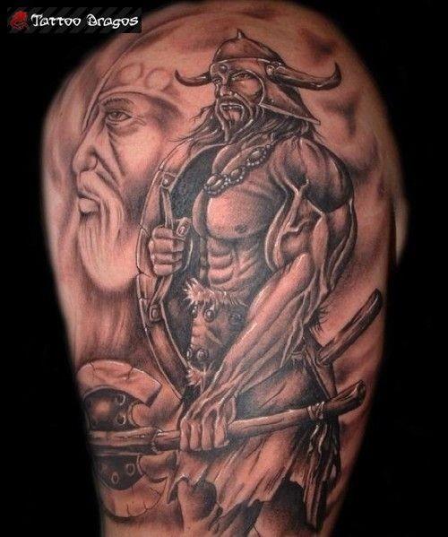 Viking Tattoo Design For Half Sleeve