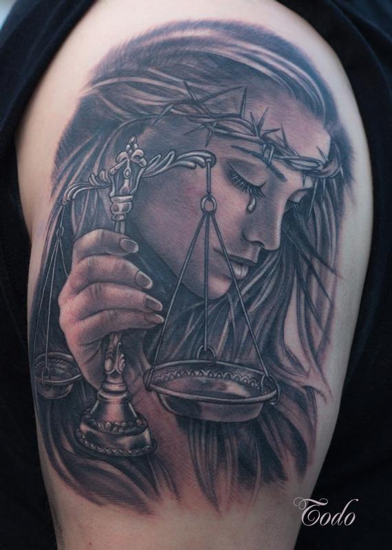 Metallica Lady Justice Tattoo