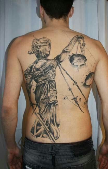 23 nice blind justice tattoo for Tattoos of lady justice