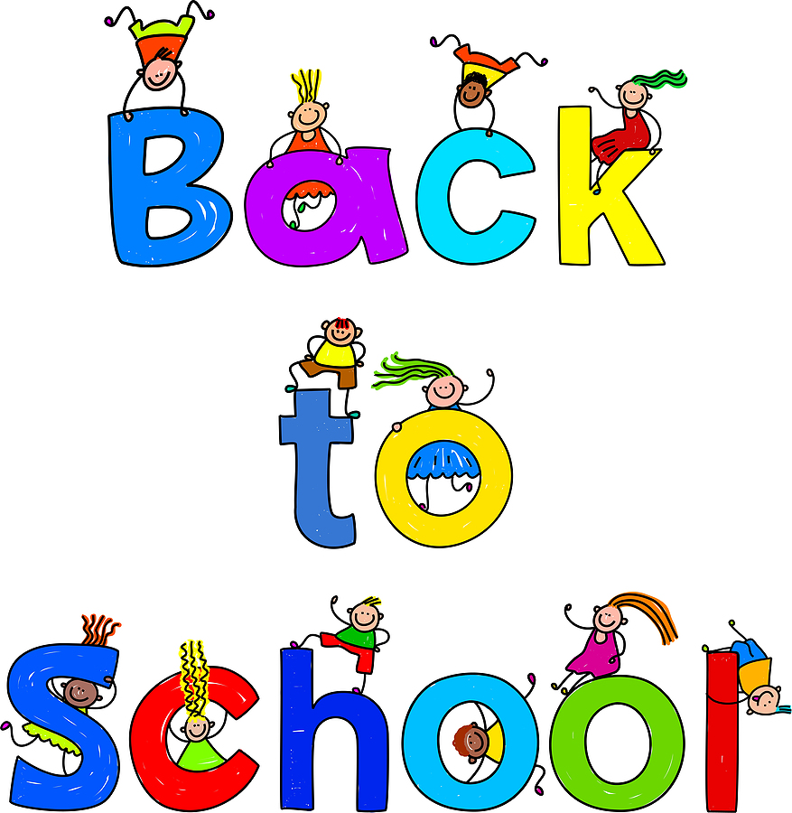 Back To School Kids Clipart Image