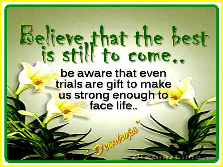 trials come to make us stronger