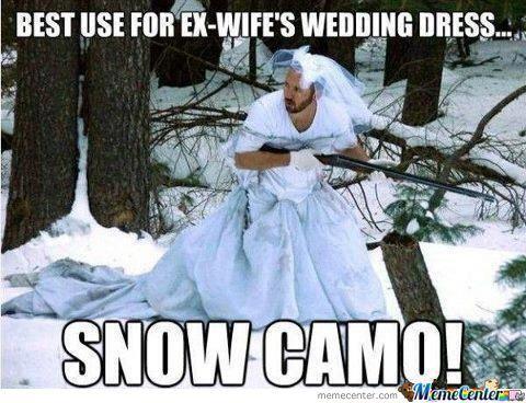 Best Use For Ex Wifes Wedding Dress Funny Meme Image