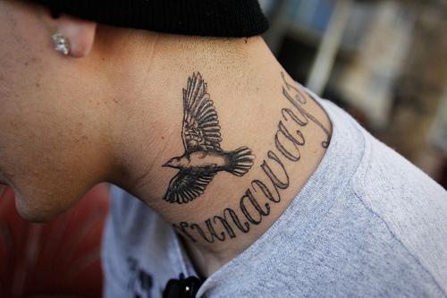 Татуировки на шее 548 photos VK