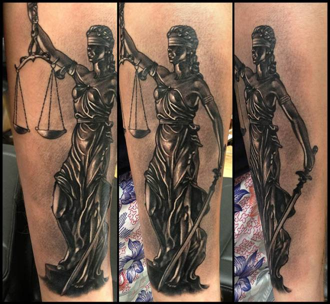 Tattoo Lady Justice: 23+ Lady Justice Tattoos On Sleeve