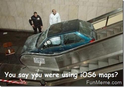 Car On Escalator Funny Crash Picture