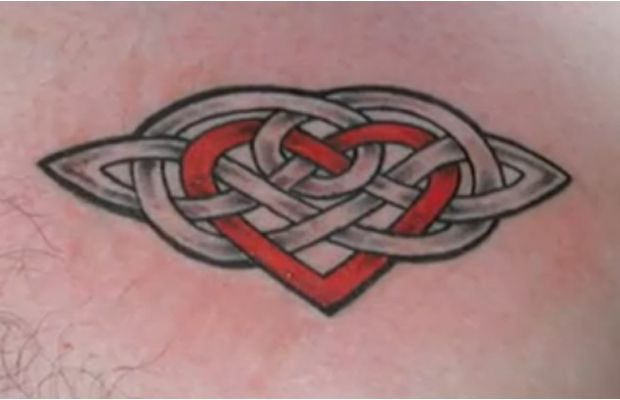 3187cea34 Celtic Knot With Red Heart Tattoo Design