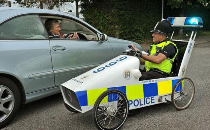Funny Looking Police Car Image