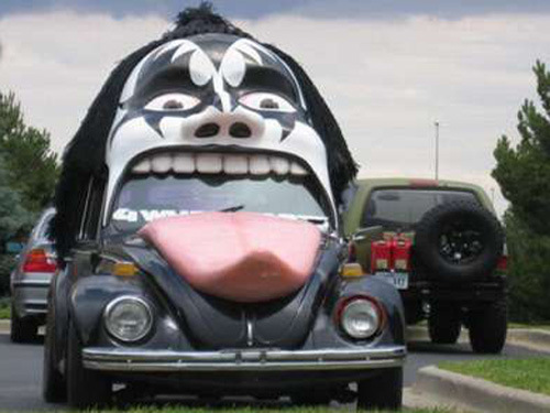 Funny Looking Scary Face Car Picture For Whatsapp