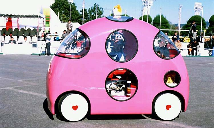 Funny Looking Weird Shape Pink Car Image